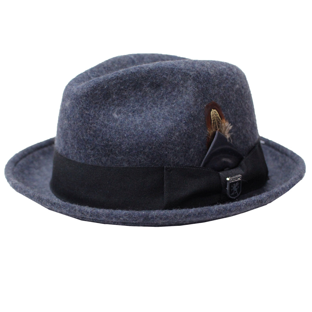 Stacy Adams Pacific Pinch Front Wool Felt Hat