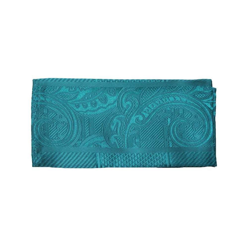 Stacy Adams Turquoise Geometric Tie and Handkerchief