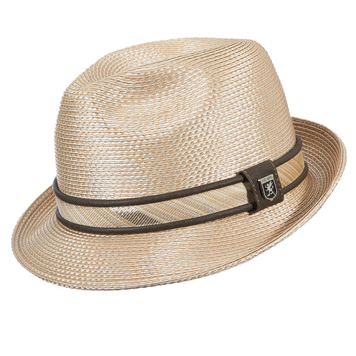 Stacy Adams Deanwood Beige Poly Braid Fedora Hat
