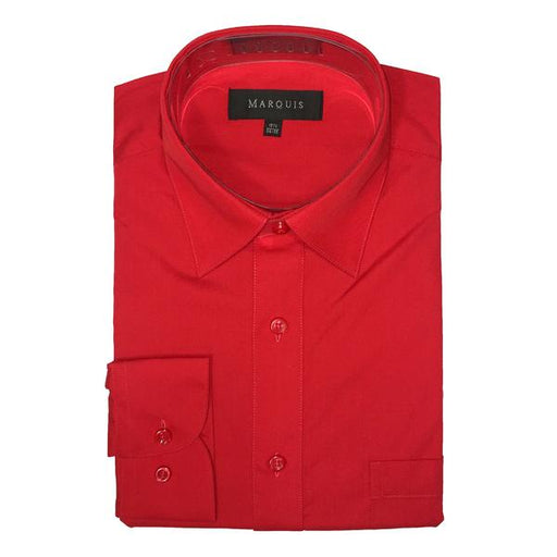 Marquis Red Slim Fit Dress Shirt