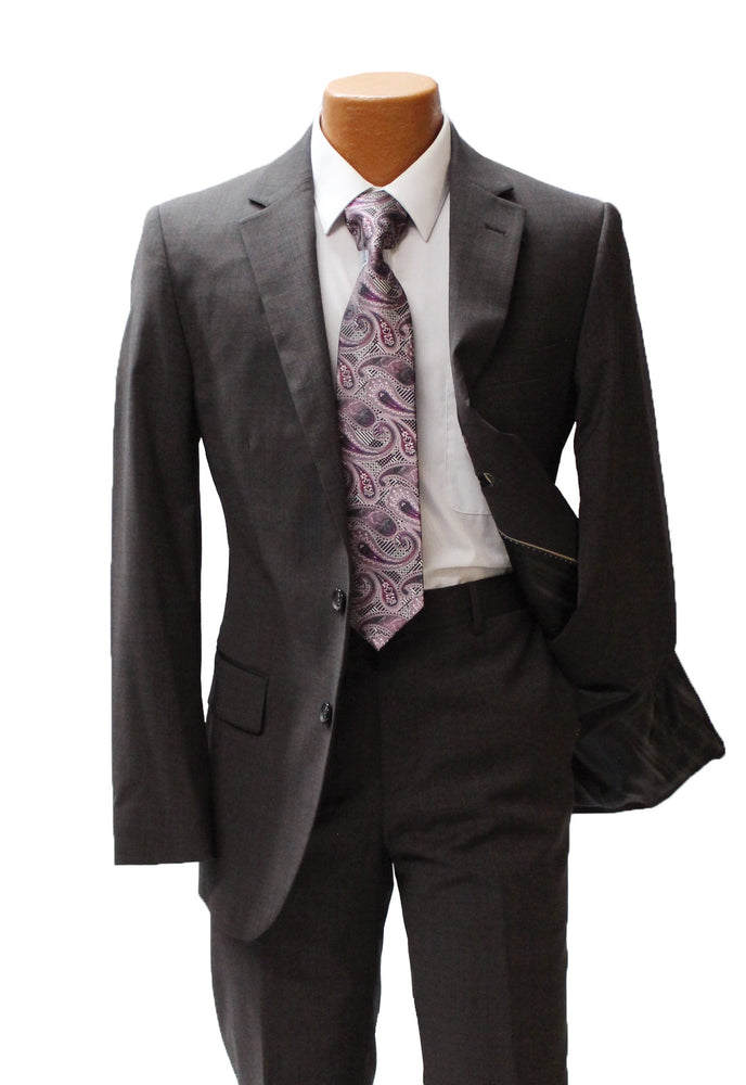 TopLapel Brown Modern Fit Suit