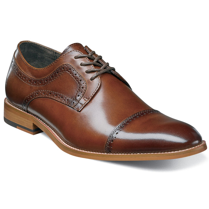Stacy Adams Dickinson Cognac Cap Toe Oxford Shoes