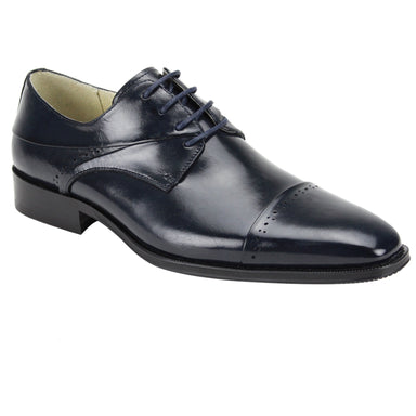 Giovanni Hudson Navy Cap Toe Dress Shoes