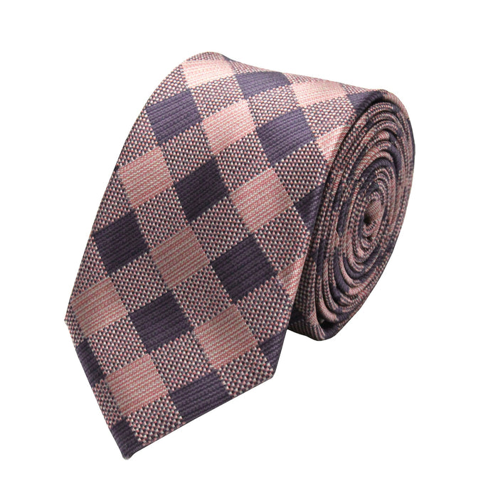 Gianfranco Pink Square Tie and Handkerchief