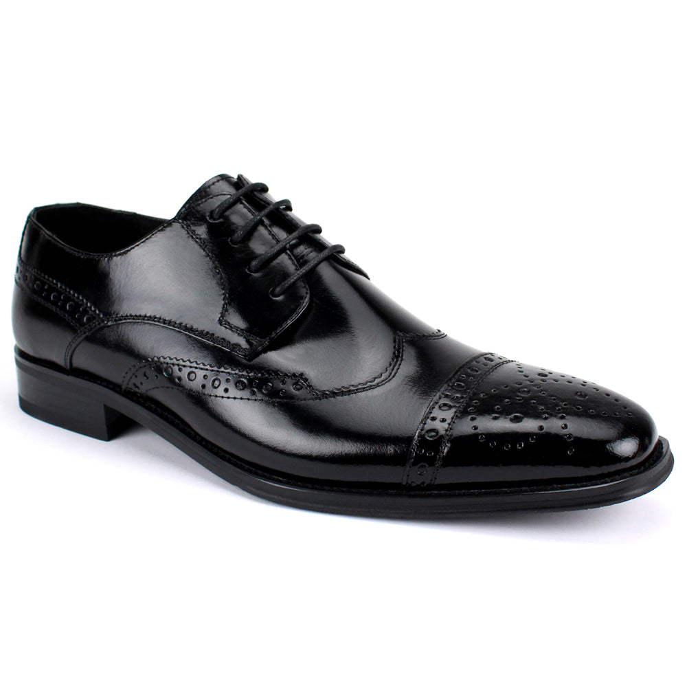 6502 Black Wingtip Dress Shoe