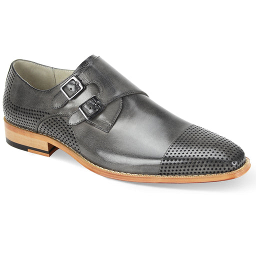 Giovanni Gyles Grey Monk Strap Dress Shoes