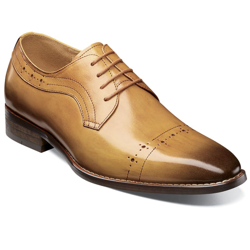 Stacy Adams Shallon Tan Cap Toe Oxford Dress Shoes