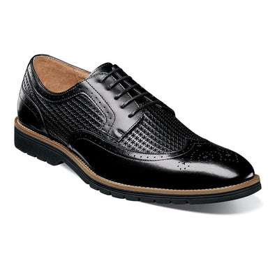 Stacy Adams Emile Black Wingtip Oxford Shoes