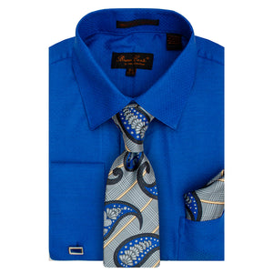 Bruno Conte 1082 Royal Regular Fit Dress Shirt Combo