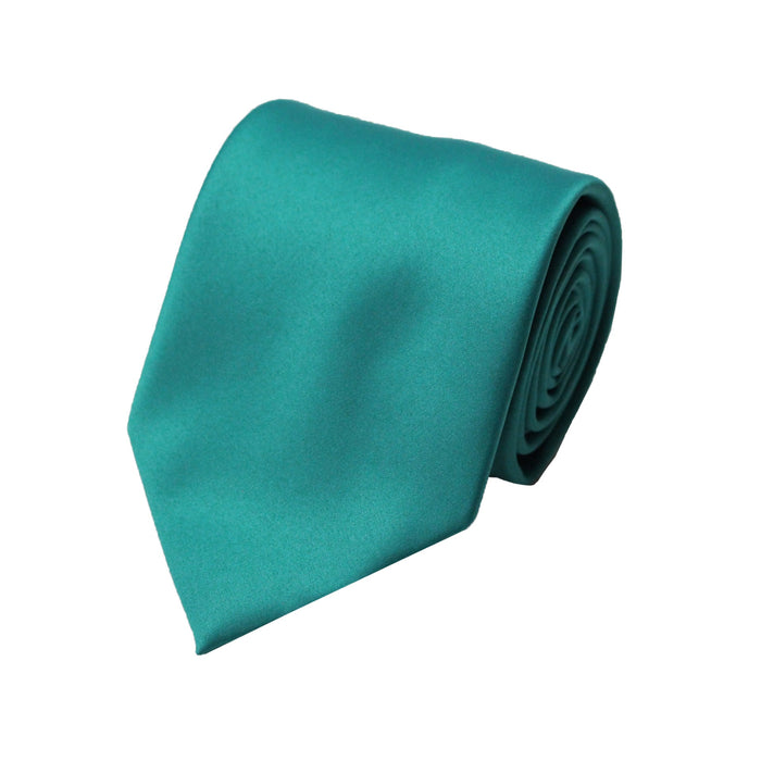 Stacy Adams Solid Teal Tie and Handkerchief