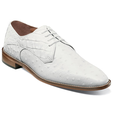 Stacy Adams Russo White Plain Toe Oxford Dress Shoes