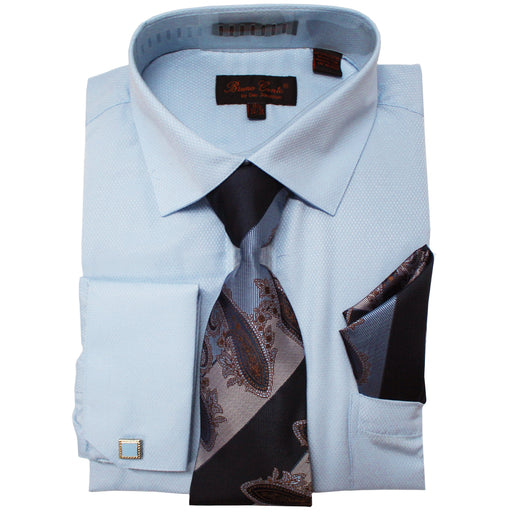 Bruno Conte 1080 Light Blue Regular Fit Dress Shirt Combo