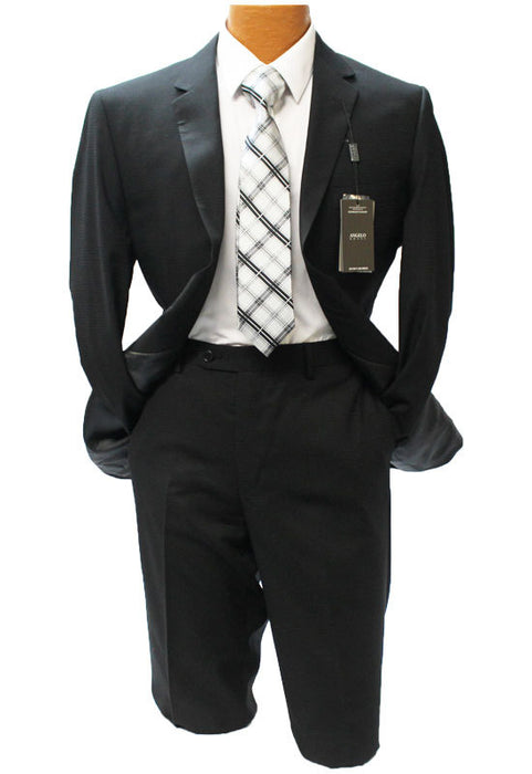 Angelo Rossi Black Check Modern Fit Suit