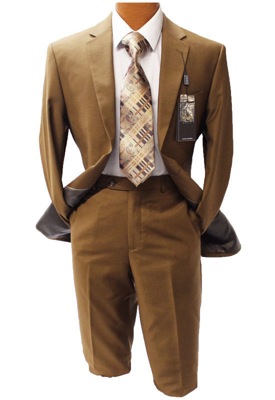 Angelo Rossi Brass Modern Fit Suit