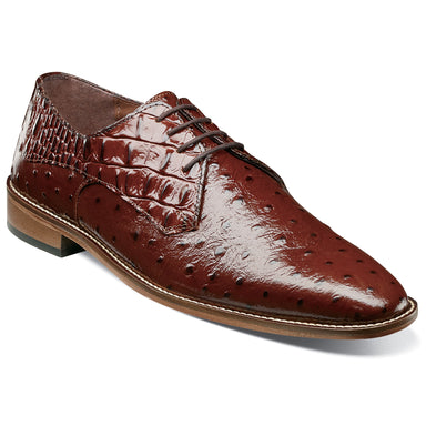 Stacy Adams Russo Cognac Plain Toe Oxford Dress Shoes