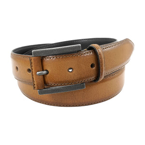 Stacy Adams Matthews Tan Burnished Genuine Leather Belt