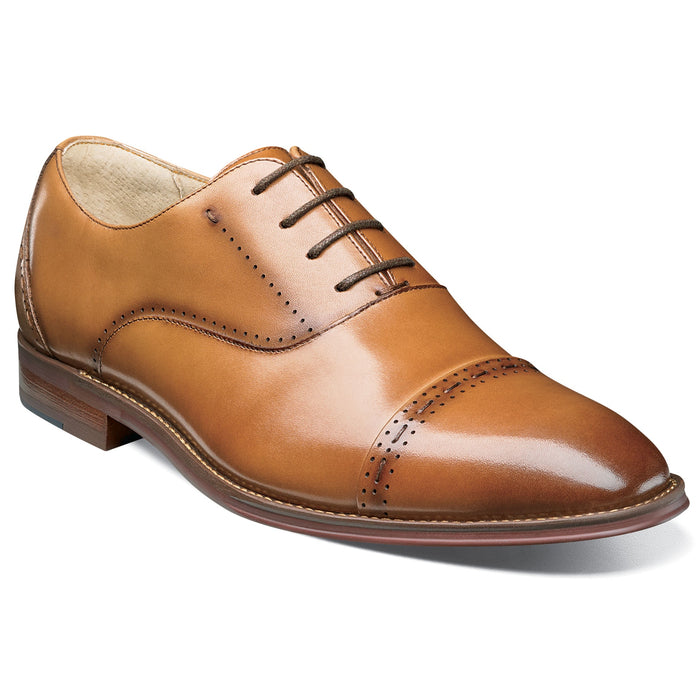 Stacy Adams Barris Tan Cap Toe Oxford Shoes