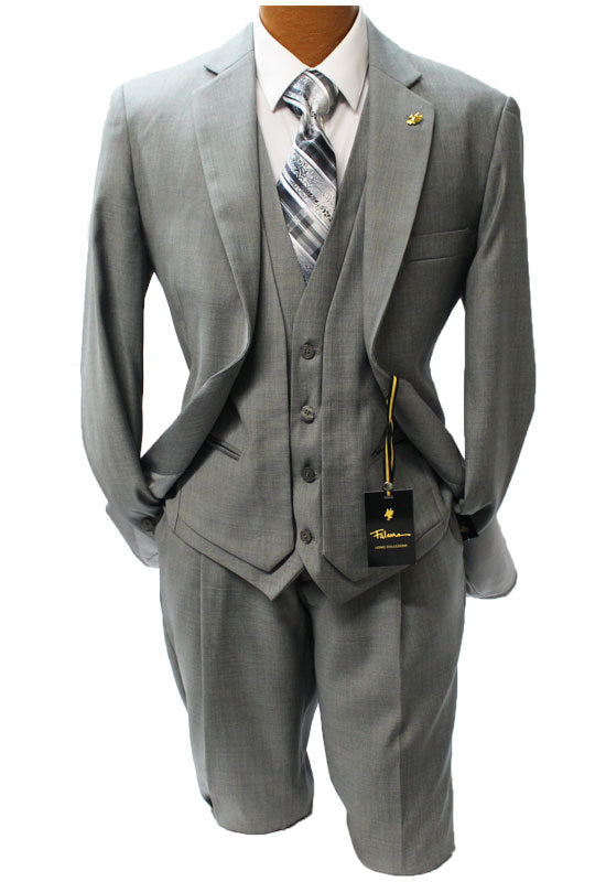 Falcone Burt Gray Vested Classic Fit Suit
