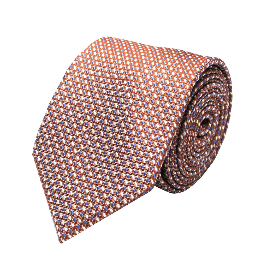 Gianfranco Copper Tie and Handkerchief