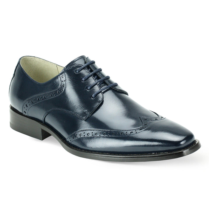 Giovanni Bentley Navy Wingtip Oxford Shoes