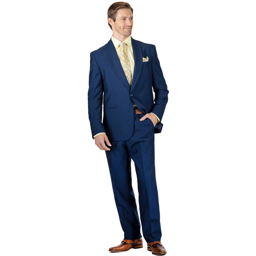 Stacy Adams Park Navy Blue Modern Fit Suit