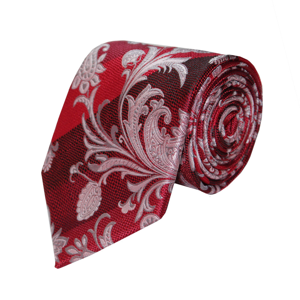 Gianfranco Red Floral Tie and Handkerchief