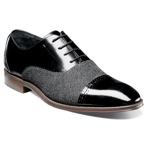 Stacy Adams Barrington Black Cap Toe Oxford Shoes