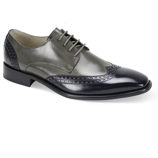 Giovanni Gala Navy/Grey Wingtip Oxford Shoes