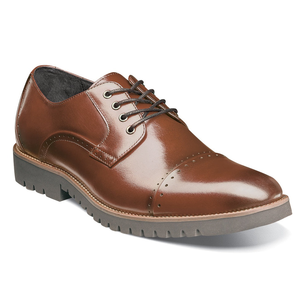 Stacy Adams Barcliff Cognac Cap Toe Oxford Shoes