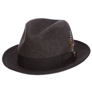 Charcoal Pinch Front Fedora Hat