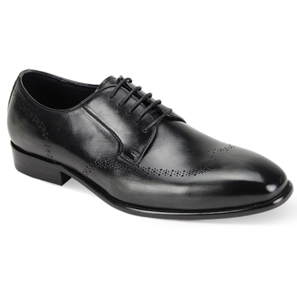 Giovanni Ivan Black Multi Wingtip Brogue Dress Shoe