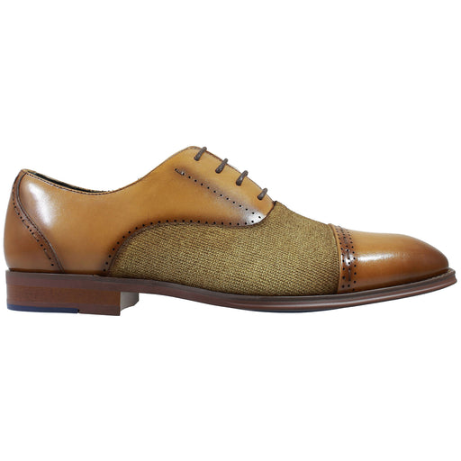Stacy Adams Barrington Tan Cap Toe Oxford Shoes