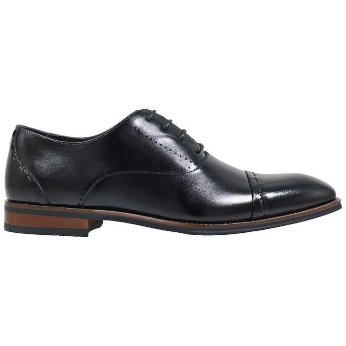 Stacy Adams Barris Black Cap Toe Oxford Shoes