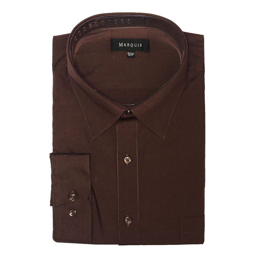 Marquis Chocolate Regular Fit Dress Shirt