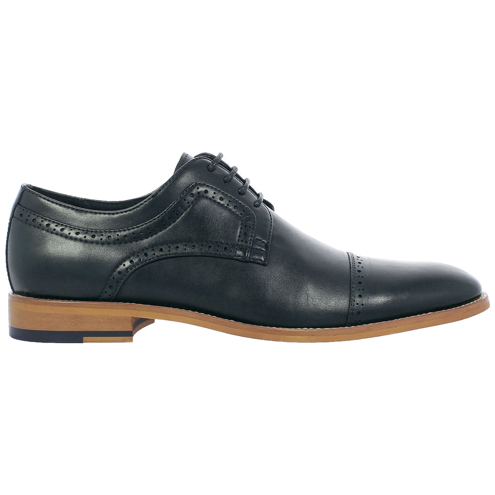 Dickinson Black Cap Toe Oxford Shoes