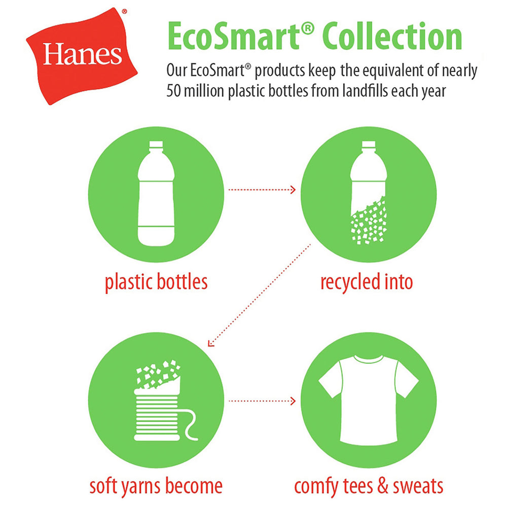 Hanes Cotton-Blend EcoSmart® Jersey Polo With Pocket - White