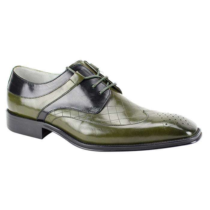 Giovanni Enzo Olive and Black Wingtip Oxford