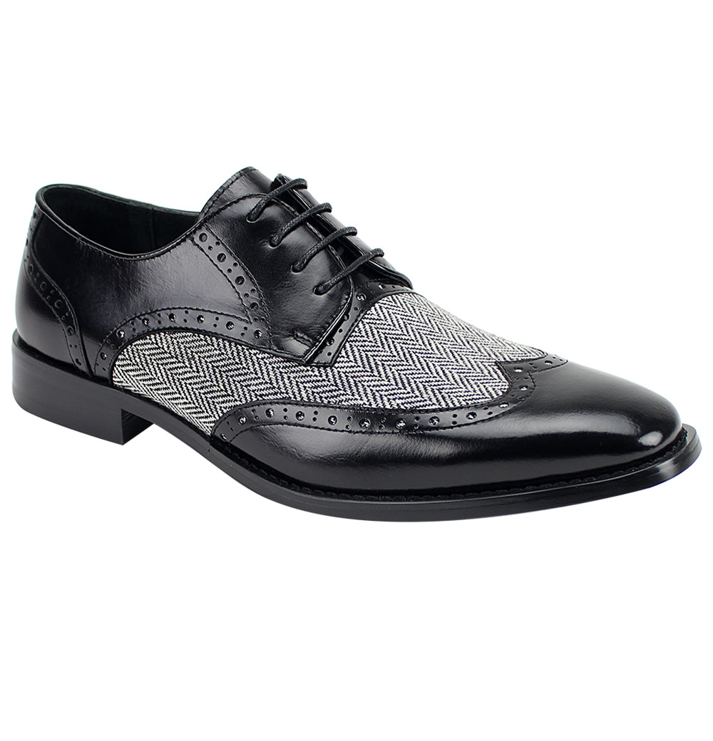 Ethan Black Wingtip Oxford
