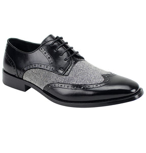 Giovanni Ethan Black Wingtip Oxford