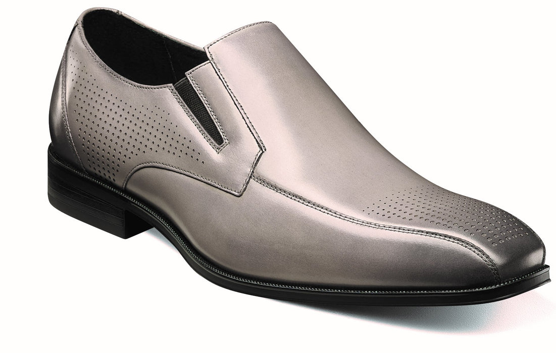 Stacy Adams FairFax Gray Bike Toe Slip On Oxford Shoes