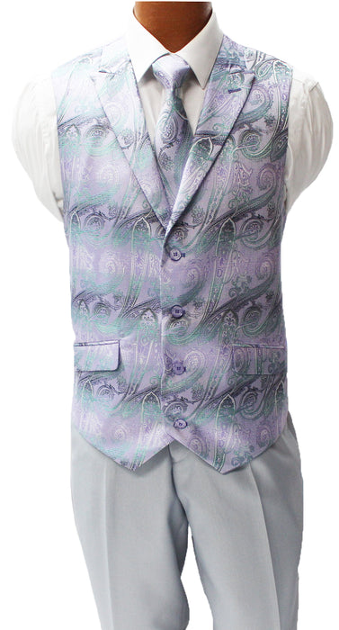 Falcone City Light Gray Six Piece Vested Modern Fit Suit