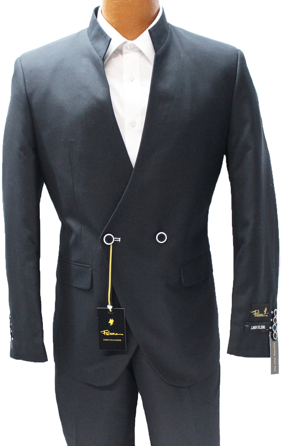 Dandi Black Double Breasted Modern Fit Suit