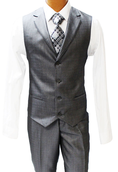 Falcone Edge Charcoal Vested Modern Fit Suit