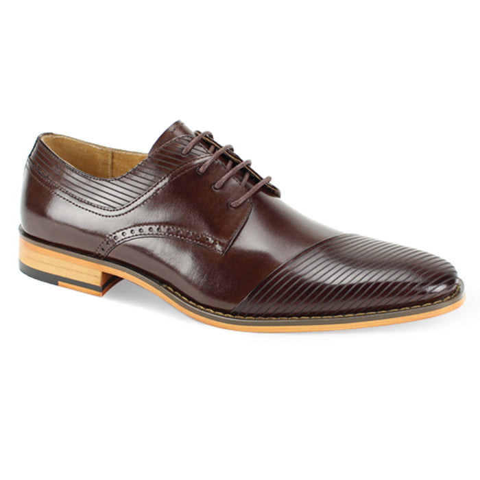 Giovanni Frazer Chocolate Brown Geometric Toe Oxfords