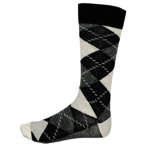 Fun Socks Argyle Black