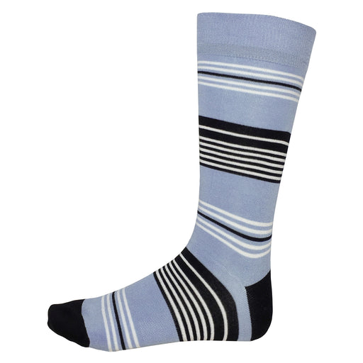 Fun Socks Striped Light Blue