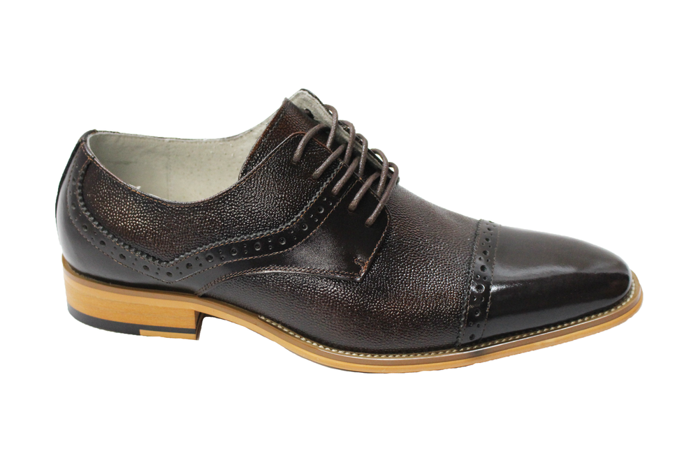Giorgio Venturi Brown Cap Toe Oxford Shoes