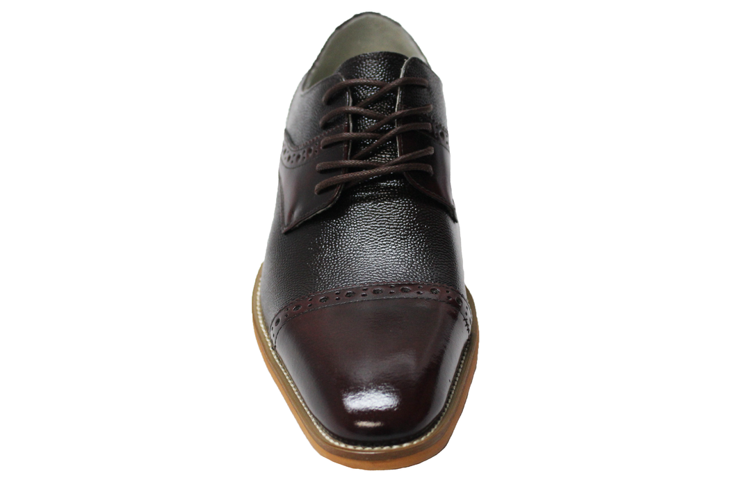 Giorgio Venturi Burgundy Cap Toe Oxford Shoes