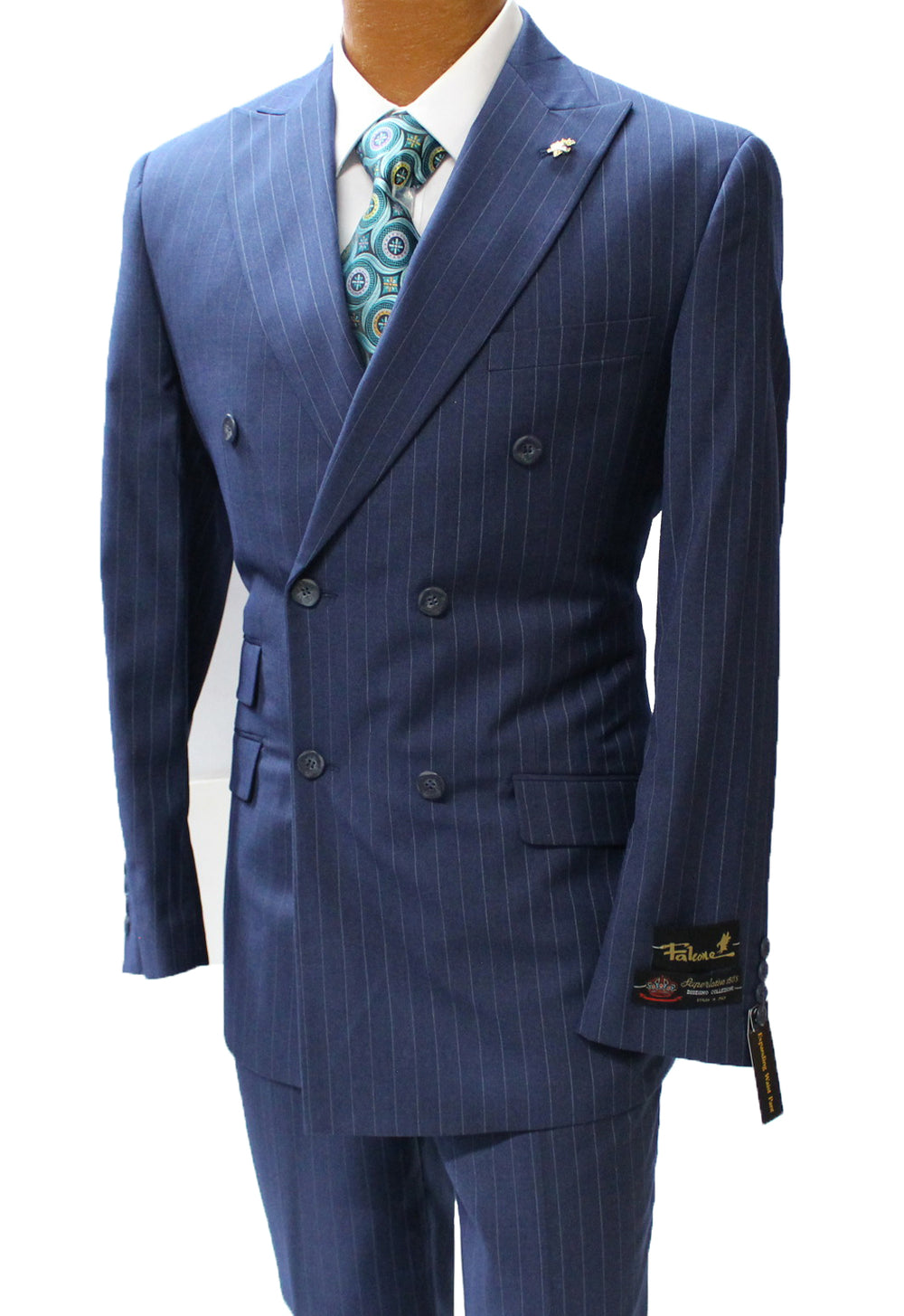 Navy Double Breasted Classic Fit Suit