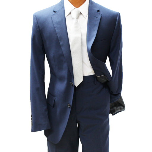 TopLapel Navy Blue Modern Fit Suit